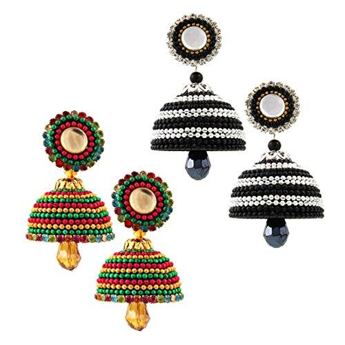 Radha Krishna Shop Set of Two Paper Quilling Multicolor Earrings