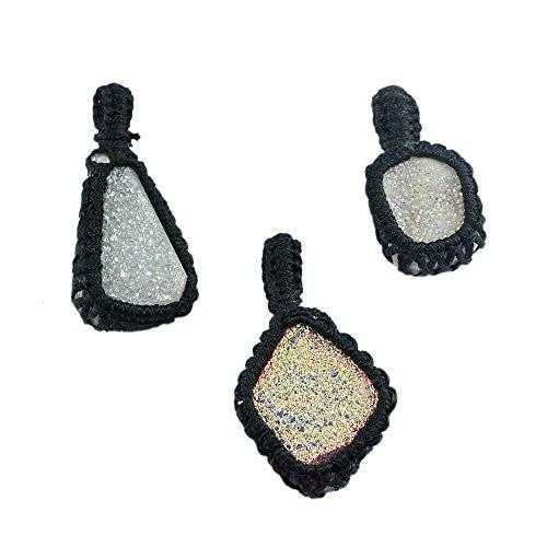 Silvestoo India Druzy Gemstone Thread Pendant PG-122963
