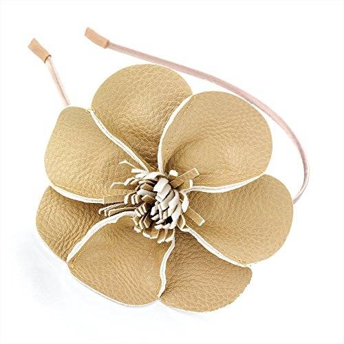 Style My Outfit Beige Flor Hairband/Alice Band–Accesorios para el pelo