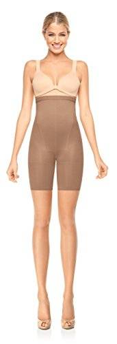Spanx Super Higher Power Womens Nylon One-Piece from the In-Power Line for Firm Bottom, Thighs & Legs Control with High-Waisted Tummy-Taming Panel 916 - Nude - Size E