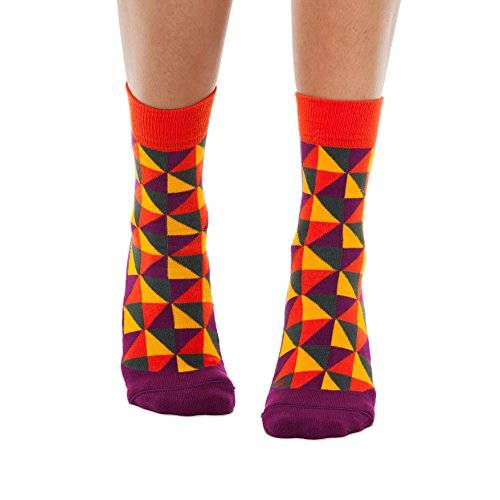 SOKKI Organic Cotton Socks - Calcetines - para mujer multicolor Red/Yellow/Grey/Purple-Red Small