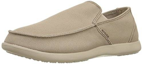 Crocs Santa Cruz Clean Cut Loafer, Hombre Mocasín, Marrón (Khaki/Cobblestone), 48-49 EU