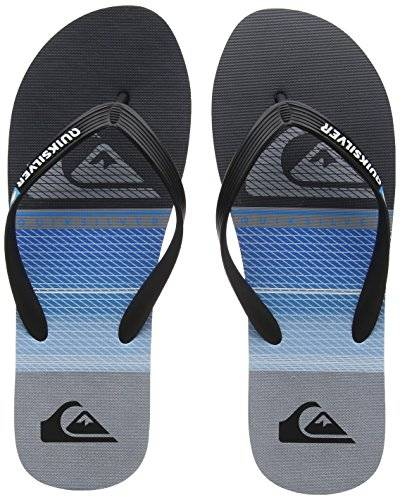 Quiksilver Molokai Highline Slab, Chanclas para Hombre, Multicolor (Black/Blue/Grey-Combo Xkbs), 43 EU