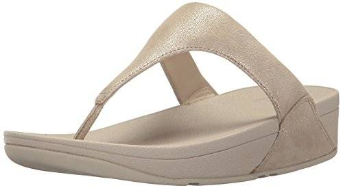 FitFlopTM Shimmy Suede Toe Post - Pale Gold