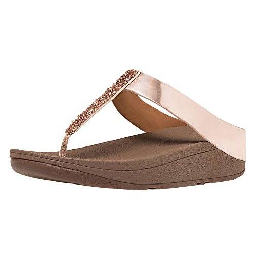FitFlopTM FitFlop™ Fino Del Dedo Del Pie-post Sandalias Oro Rosa UK4 Rose Gold