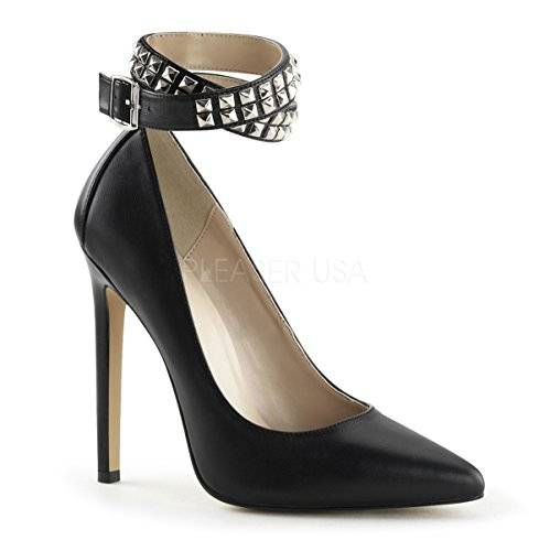 Pleaser SEXY-24 Blk Leather Size UK 5 EU 38