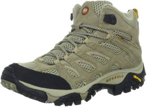 Merrell mujer's Moab Ventilator Mid Hiking Boot,Taupe,5.5 M US