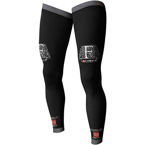 Compressport Full Leg - Calcetines unisex, color negro, talla 4