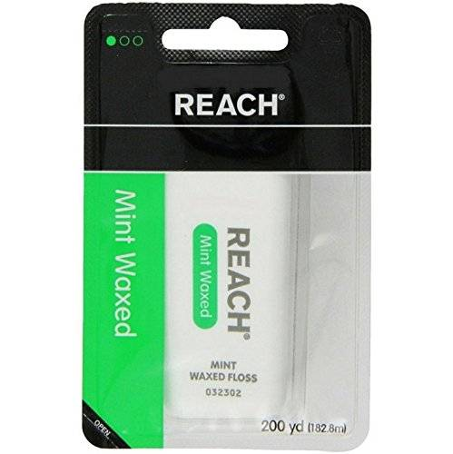 Johnson & Johnson Reach Dental Floss, Waxed, Mint, 200 Yard (Pack Of 6) by Johnson & Johnson