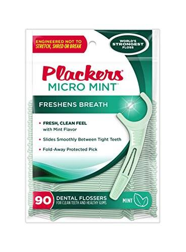 Plackers Micro Mint, 90 Count (Pack of 6) by Plackers