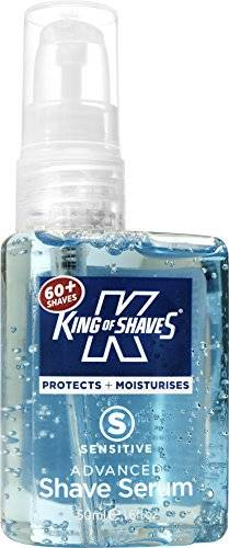 King of Shaves Kinexium Shaving Serum Sensitive, Silicon Bottle with Pump 50 ml