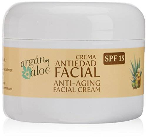 Argan-Aloe 70080 - Crema facial antiedad con aloe y argn, 100 ml