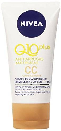 Nivea Q10 Plus Anti-Arrugas - Crema para cuidado de da con color - 50 ml