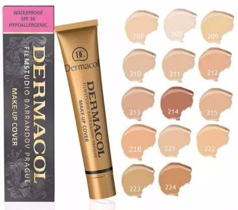 Dermacol Make Up Cover Base de Maquillaje, Tono: 208 - 5 gr