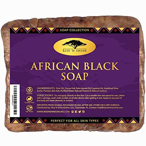 Shine Rise 'N Shine Raw Organic African Black Soap, 16 oz. by Rise 'N Shine Online