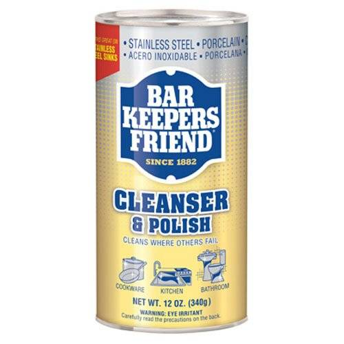 Bar Keepers Friend Bar Keepers amigo All-Purpose Cleaner, quitamanchas y polaco, Polvo, 12-ounces (Pack de 4)