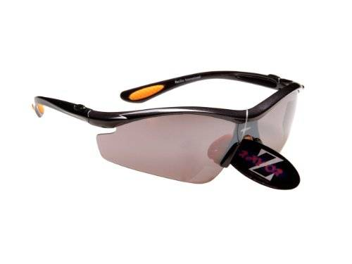 Ray-Zor RayZor Professional Lightweight UV400 GunMetal Grey Sports Wrap Golf Sunglasses, With a 1 Piece Smoked Mirrored Anti-Glare Lens