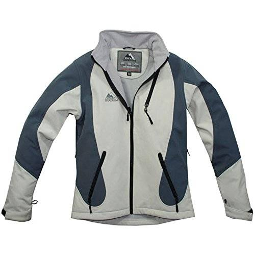 COX SWAIN WOMEN TITANIUM SOFTSHELL JACKET FOREST - 10.000mm waterproof - 5.000mm breathable, Colour: White/Grey, Size: M