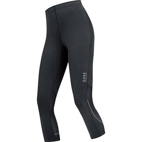 Gore Running Wear Mallas 3/4 para correr, Mujer, GORE Selected Fabrics, ESSENTIAL LADY Tights 3/4, Talla 34, Negro, TESSLS990002