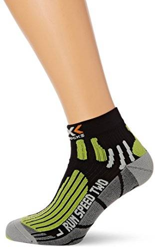 X-Socks Laufsocke Run Speed Two - Calcetines para mujer, color negro, talla 45-47