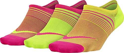 Nike 3Ppk Women Lightweight Train Pack 3 Pares Calcetines, Mujer, Rojo (Multi-Color), M
