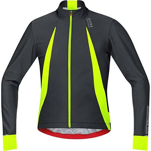 Gore Bike Wear Oxygen Windstopper - Maillot para hombre, color negro/amarillo, talla XL