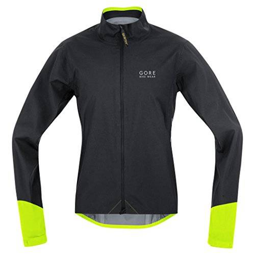 GORE BIKE WEAR, Chaqueta Ciclista Carretera, Hombre, Impermeable, GORE-TEX Active, POWER GT AS, Talla S, negro/amarillo nen, JGPOWR990803