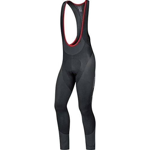 Gore Bike Wear Oxygen Partial Thermo+ - Culote con tirantes para hombre, color negro, talla M