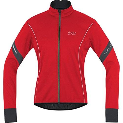 GORE BIKE WEAR Jacke Power 2.0 Soft Shell - Chaqueta de ciclismo para hombre, color rojo / negro, talla S