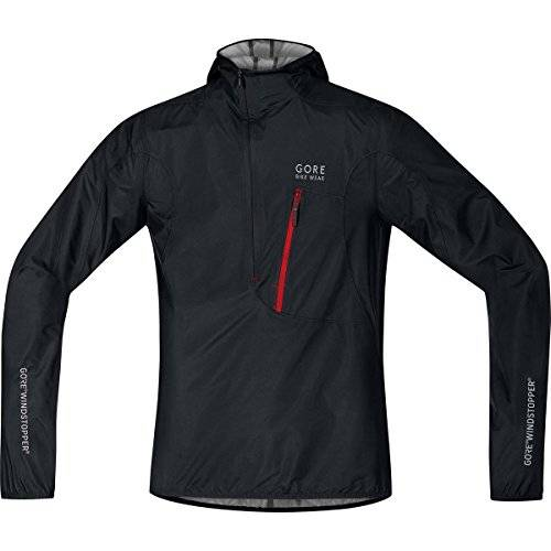 Gore BIKE WEAR, Hombre, Chaqueta rescue, WINDSTOPPER Active Shell, RESCUE WS AS, Talla L, Negro, JGRESC990005