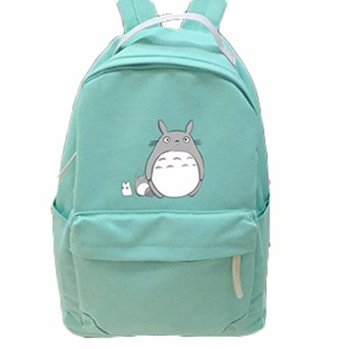 animanga new Escuela Mochila Cartoon Casual Cartera de libros Backpack Alto gordo totoro rare