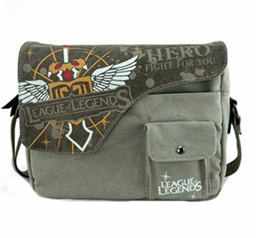 animanga new Escuela Mochila Cartoon Casual Cartera de libros Backpack Verde Amarillo League Legends Attack On Titan rare