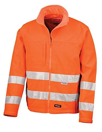 PFIFF Reflexionsjacke Soft Shell, orange, L