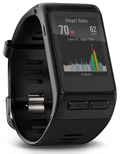Garmin Vvoactive HR - Reloj con pulsmetro integrado, unisex, color negro, talla XL