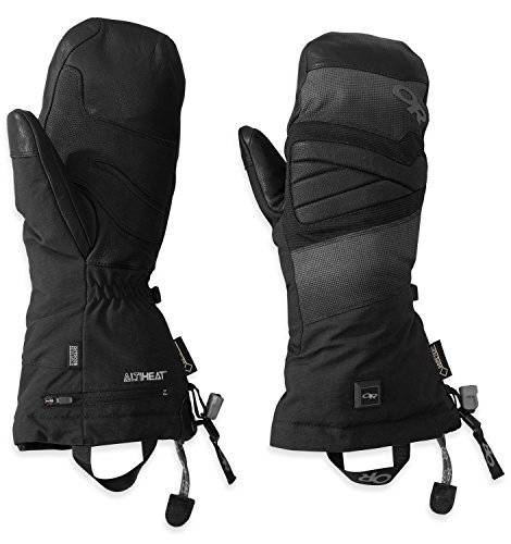 Outdoor Research - Lucent Heated Mitts, color negro, talla L