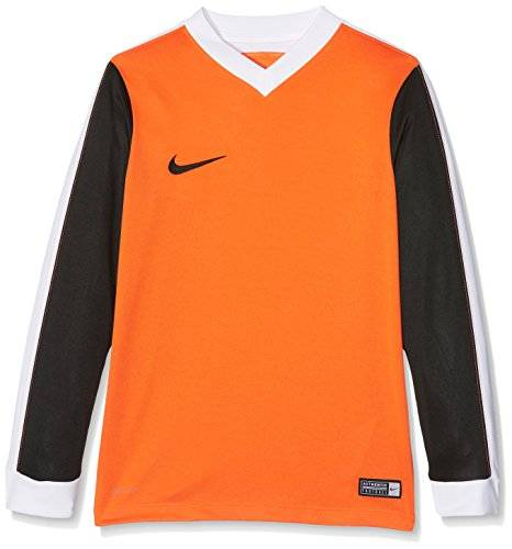 Nike Striker IV Jersey LS Youth Camiseta Manga Larga, Nios, Multicolor (Safety Orange/Black/White/Black), XL