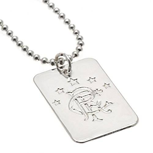 footballsouvenirs Rangers F.C. Silver Plated Dog Tag & Chain