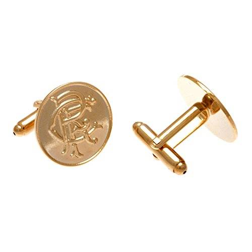 Rangers FC Rangers F.C. Gold Plated Cufflinks Official Merchandise by Rangers F.C.