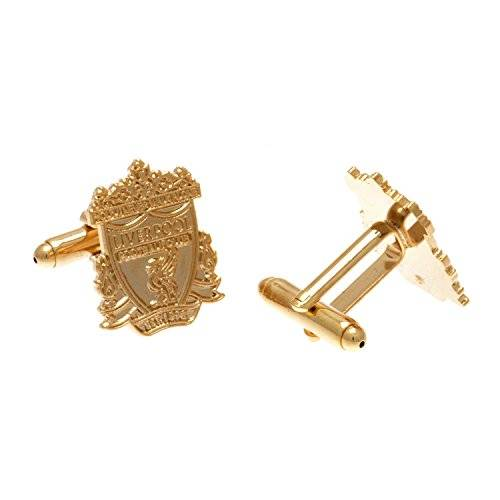 Liverpool FC Liverpool F.C. Gold Plated Cufflinks Official Merchandise by Liverpool F.C.
