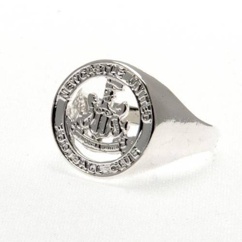 footballsouvenirs Newcastle United F.C. Silver Plated Crest Ring Medium