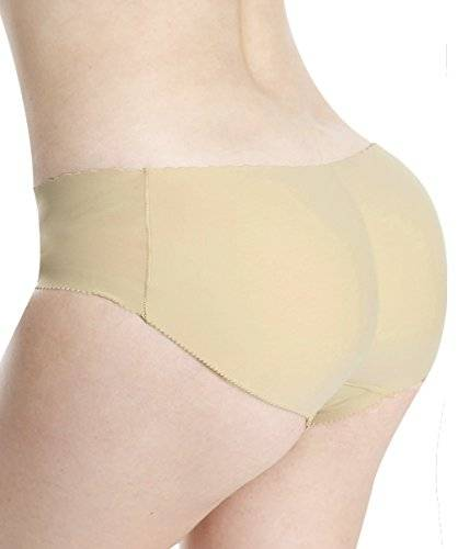 Everbellus Bragas Push Up Con Relleno Extremo para Mujer Beige Large