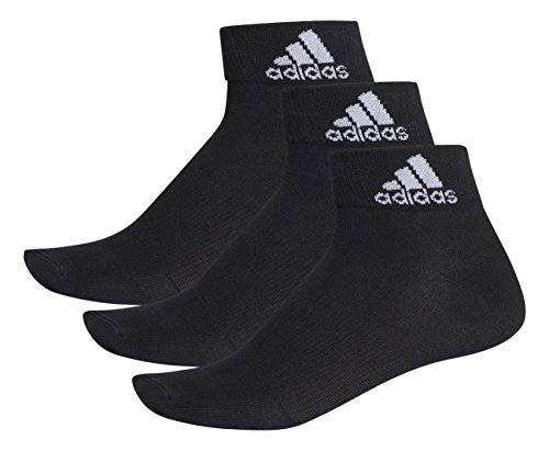 Adidas per Ankle T 3Pp Calcetines, Hombre, Negro/Blanco, 47-50
