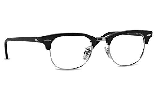 Rayban Glasses in Shiny Black 49 Clear