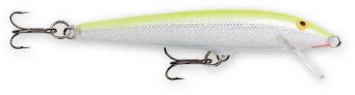 Rapala Original Floater 05 Fishing lure, 2-Inch, Silver Fluorescent Chartreuse