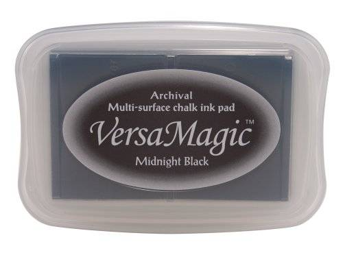 Tsukineko VersaMagic Multi-Surface Chalk Ink Pad-Midnight Black/ Sold as a pack of 2