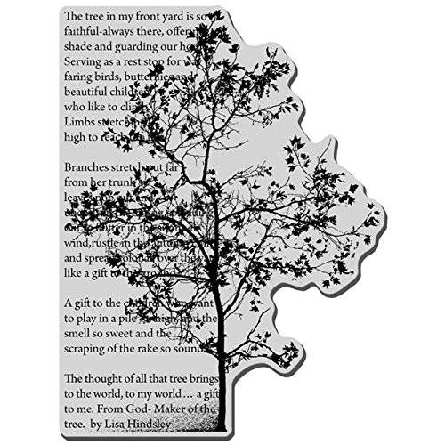 Stampendous Cling Rubber Stamp-Tree Poem