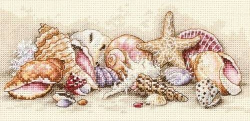 Dimensions Gold Petite Seashell Treasures Counted Cross Stitch Kit-8