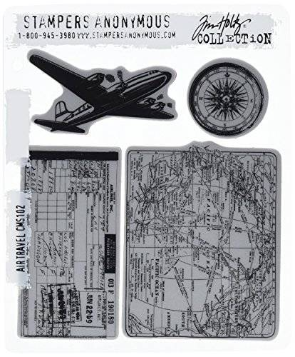 Stampers Anonymous Tim Holtz Cling timbro Set-Air Travel