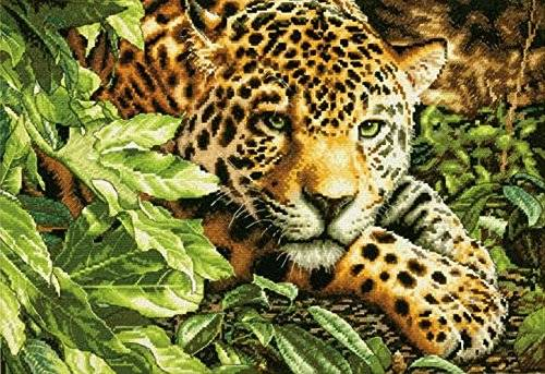 Dimensions Gold Collection Leopard In Repose Counted Cross Stitch Kit-16