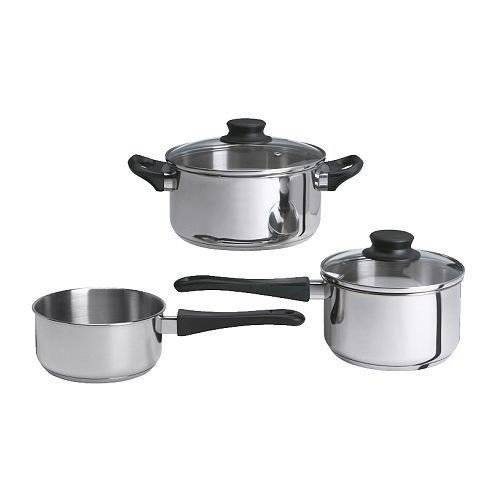 Ikea Annons 5-piece Cookware Set, Stainless Steel by Ikea